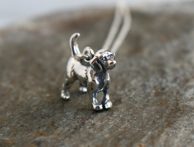 Sterling Silver Dog Necklace