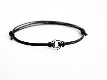 Love Knot bracelet / Love Knot Anklet / Karma Circle Bracelet / Karma Circle Anklet (many colors)