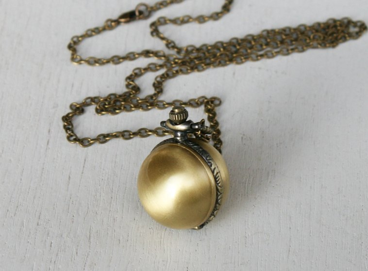 Ball Watch Necklace / Ball Necklace / Pocket watch necklace