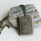 Vintage Style Book Locket Necklace