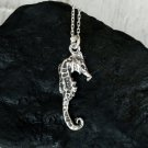 Seahorse Necklace, Sterling Silver Seahorse Necklace, Fish Necklace