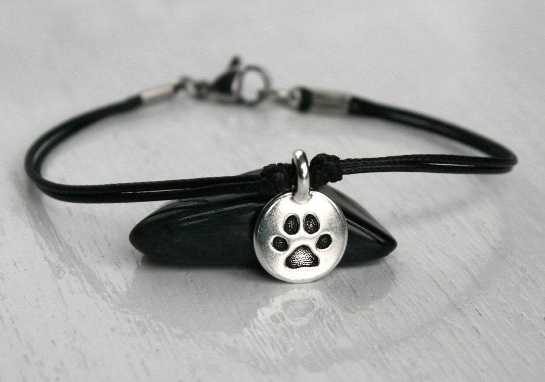 Paw Print Bracelet Anklet with Clasp