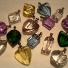 Assortment of colors and shapes crystal pendant vials (10)