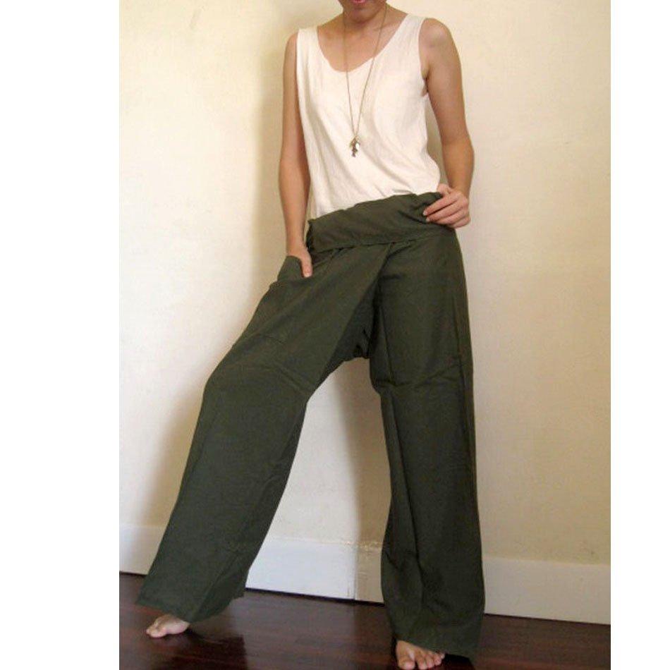 Thai Fisherman Pants brown cotton S M L (B07)