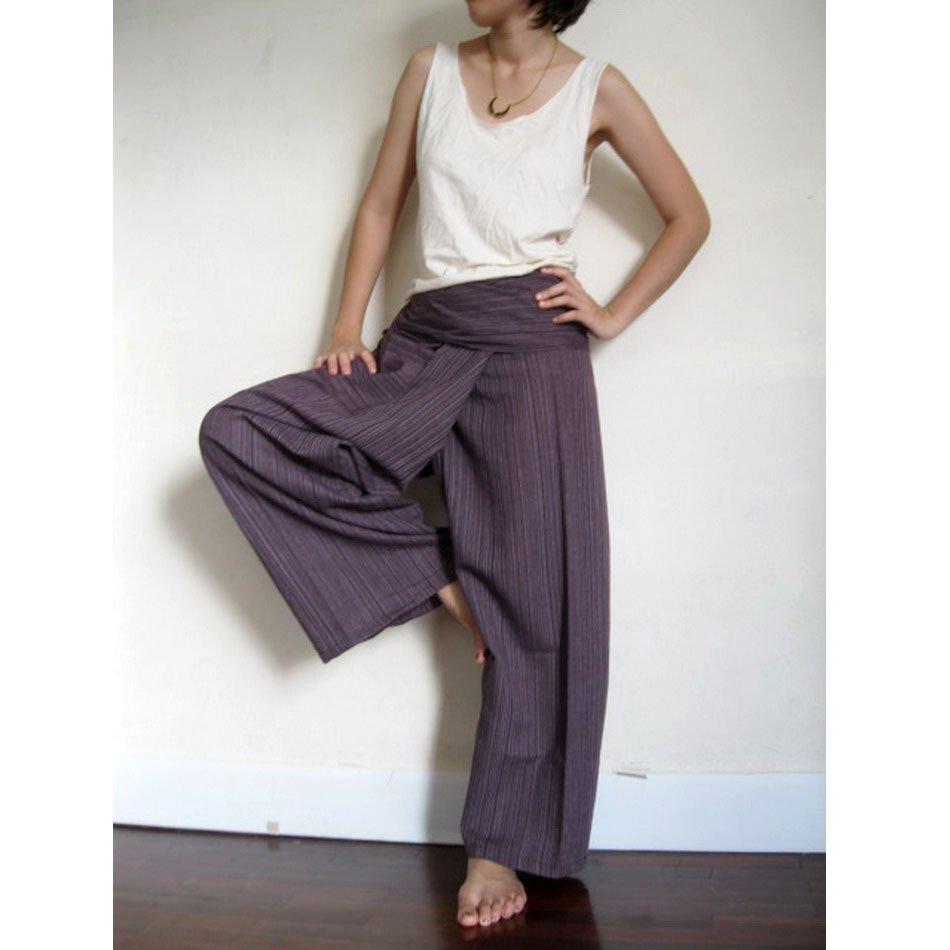 Thai Fisherman Pants brown cotton 019