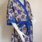 Blue batik short bridesmaid kimono Robe R11