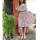 Brown Floral Cotton Sexy Summer Sundress  (SS 01)