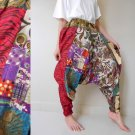 Free Shipping Hippie Gypsy Funky Floral India Cotton Patchwork Long Aladdin Harem Pants S-L (HR10)