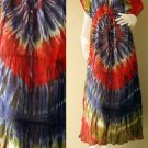 Free shipping  New Tropical Summer  Tie Dye Cotton Boho Hippie V-Neck Long Kimono TD336