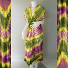 Free shipping New Tropical Colorful Tie Dye Cotton  Long Kimono Women Summer Dress (TD336)