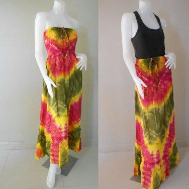 Free Shipping Tie Dye Summer Long Smock Halter  Dress /Skirt (TD 80)