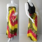 Free Shipping Tie Dye Summer Long Smock Maxi Dress Halter/Skirt (TD 72)