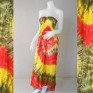 Free shipping  New Tropical Summer  Tie Dye Cotton Boho Hippie V-Neck Long Kimono (Smock 400)