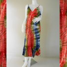 Long Halter Tied Tie Dye Ladies Summer Cotton Dress (DMS376)