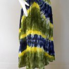 New Tropical Elastic Waist Long Tie dye Cotton Boho Hippie Gypsy Long skirt ( TD 156)