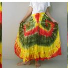 Free shipping  New Tropical Summer  Tie Dye Cotton Boho Hippie  Long Skirt(EL06)