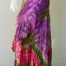 Free Shipping  Boho hippie Thai tie dye cotton ruffle wrap skirt S-L (TD 31)