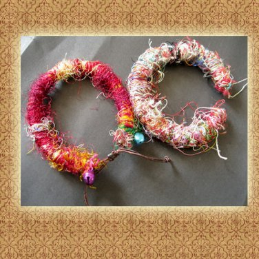 Free Shipping Colorful Nepal silk Handcrafted Bracelets  (A12)