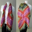 Free Shipping New-Womens-Tie-Dye Cotton Shawl-Fashion-Scarf (07)