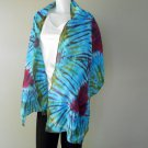 Free shipping scarf multi-color Tie dye cotton shawl (23)