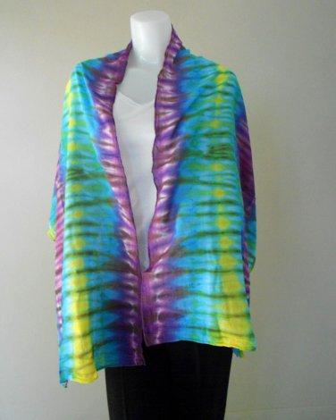Free Shipping Multi-Color Tie Dye Cotton Handmade Scarf Wrap Shawl