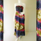 Plus size 2 in 1 Boho Hippie tie dye cotton smock dress maxi summer sundress long skirt (TD 108 )