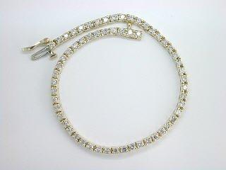 3.00 CTW ROUND DIAMOND TENNIS BRACELET 14 K GOLD