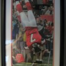 Michael Vick Autograph Touchdown Flip Photo with Matted Frame - Atlanta Falcons