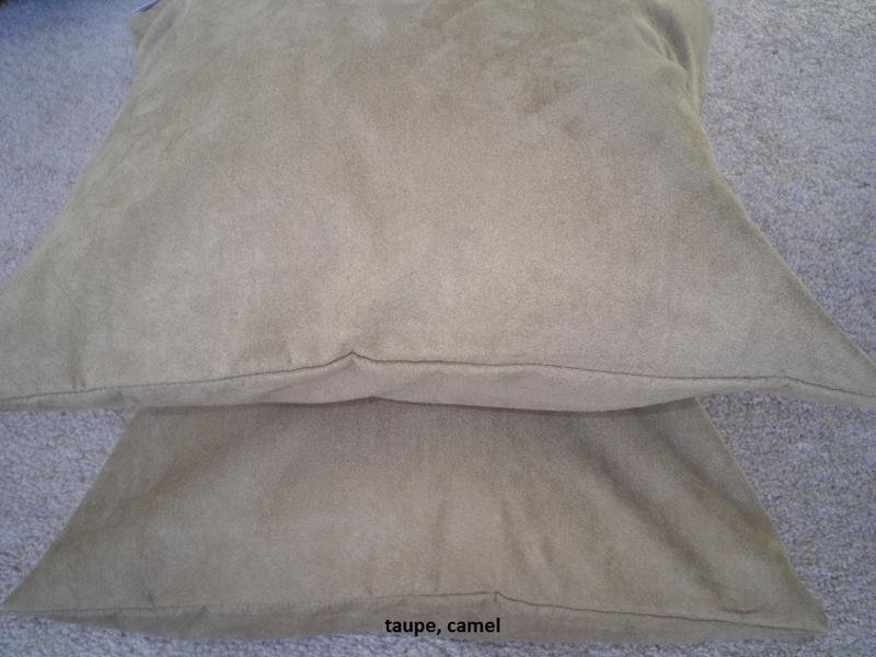 Set 2 of Camel Heavy Duty Micro sude Cushion Pillow Covers Set of 2 18x18 inches