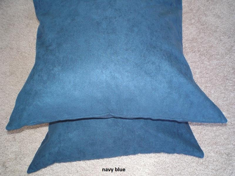 Set 2 of Navy Blue Heavy Duty Micro sude Cushion Pillow Covers Set of 2 18x18 inches