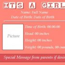 It's A Girl - Pink Notebook
