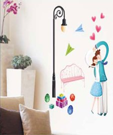color lamp Wall Sticker