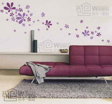 five leaves flower Decal Sticker 23pcs
