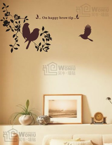"bird branch Decal Sticker 29""*16"""