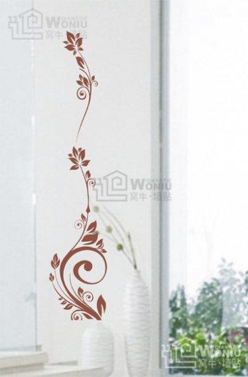 """flower line Decal Sticker 39 1/2"""" * 8"""""""