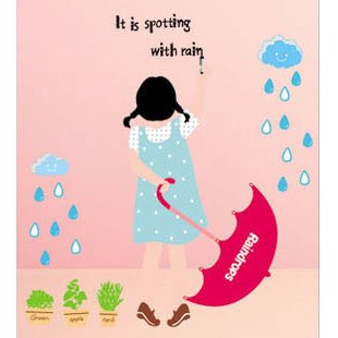 "Wall decals and vinyl wall art - Color Girl Wall Decal Sticker 27 1/2""*20"""