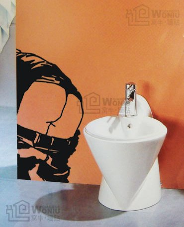 "Wall decals and vinyl wall art - toilet Decal Sticker 23 1/2"" *11"""
