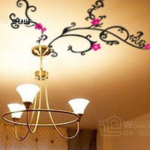 "Wall decals and vinyl wall art - flower for light wall decal sticker 39 1/2""*21 1/2"""