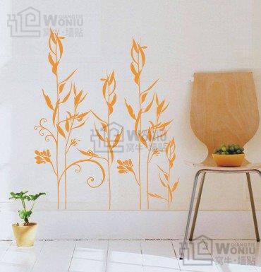 "Wall decals and vinyl wall art - bulrush grass wall decal sticker 31 1/2""*25"""