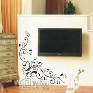 "Wall decals and vinyl wall art - flower pattern wall decal sticker 14 1/2"" * 13"""