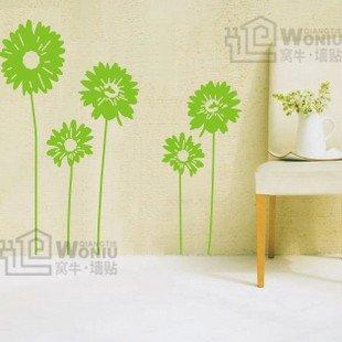 """Wall decals and vinyl wall art - mum flower wall decal sticker 31 1/2"""" *33 1/2"""""""