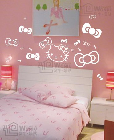 Wall decals and vinyl wall art - kitty decal sticker