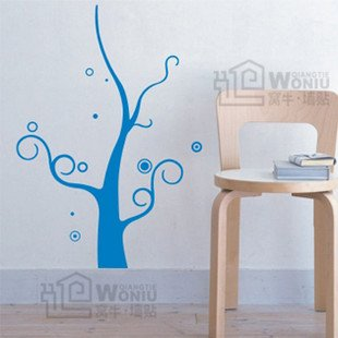 """Wall decals and vinyl wall art - bald tree decal sticker 31 1/2"""" *23 1/2"""""""