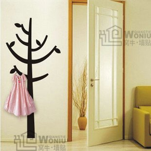 """Wall decals and vinyl wall art -hanger tree decal sticker 47""""*21 1/2'"""