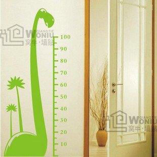 """Wall decals and vinyl wall art -dinosaur  height chart decal sticker 49""""* 23"""""""