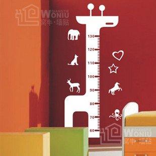 """Wall decals and vinyl wall art -giraffe height chart 2 decal sticker 39"""" *18"""""""