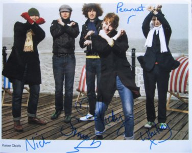 SUPERB KAISER CHIEFS SIGNED PHOTO + COA!!!