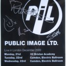 SUPERB PUBLIC IMAGE LTD SIGNED PHOTO + COA!!!