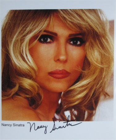 SUPERB NANCY SINATRA SIGNED PHOTO + COA!!!