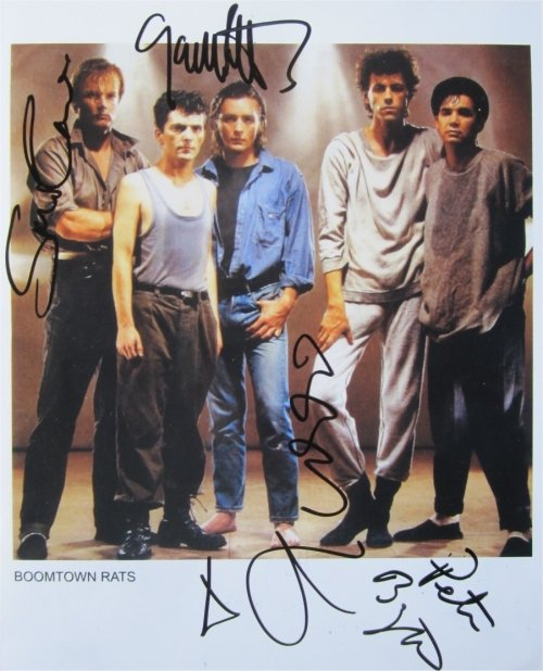 SUPERB BOOMTOWN RATS SIGNED PHOTO + COA!!!